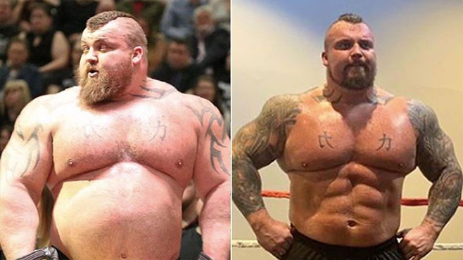Two modes of Eddie Hall