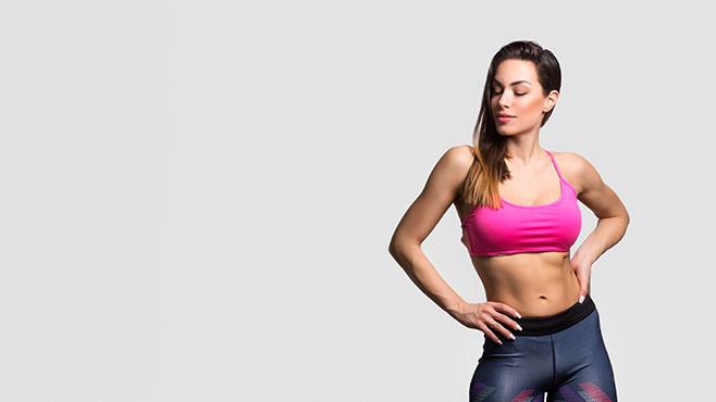 Beautiful fitness girl posing