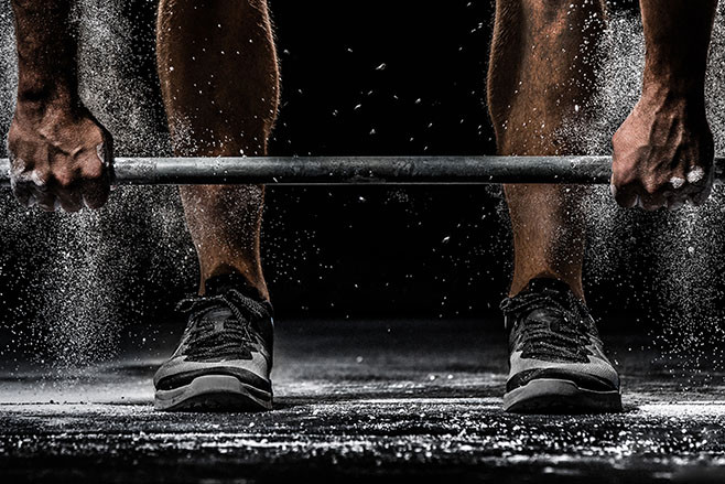 Barbell and Chalk