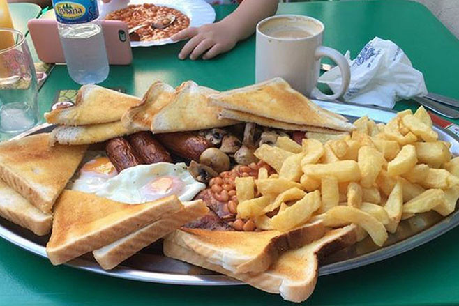 Ricky Hatton's binge food meal