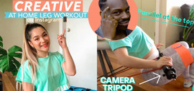 Enhance Your Home Leg Workouts With Rice, Tripod & Books