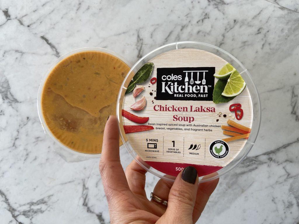 $3 Coles Kitchen Chicken Laksa Soup