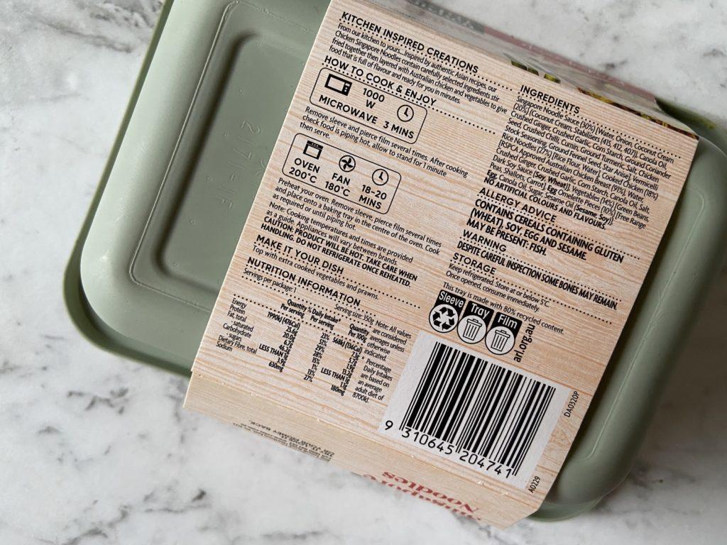 Coles Kitchen Ingredients