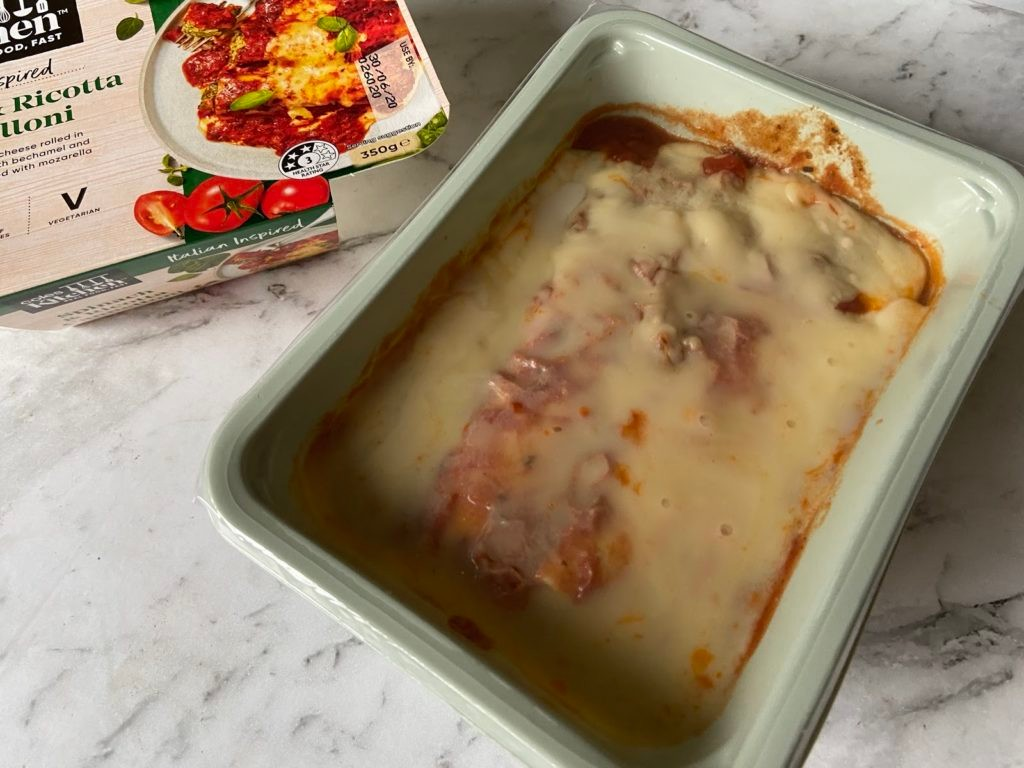 Coles Kitchen Spinach Ricotta Cannelloni