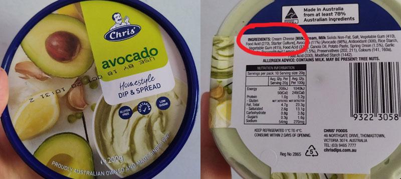 Avocado Spread is Cream Cheese