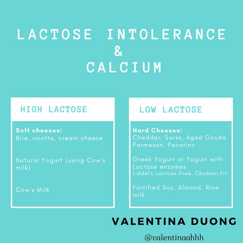 Lactose intolerance and calcium