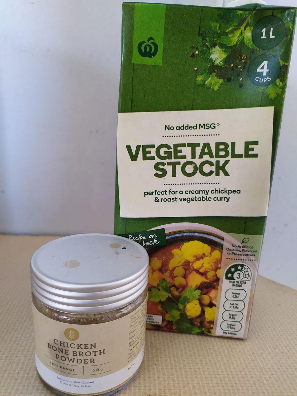Vegetable stock & bone broth powder
