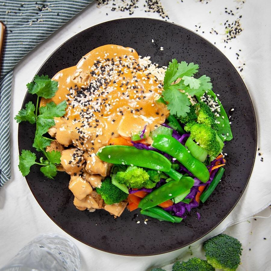 Garden of Vegan Satay Tofu Stirfry