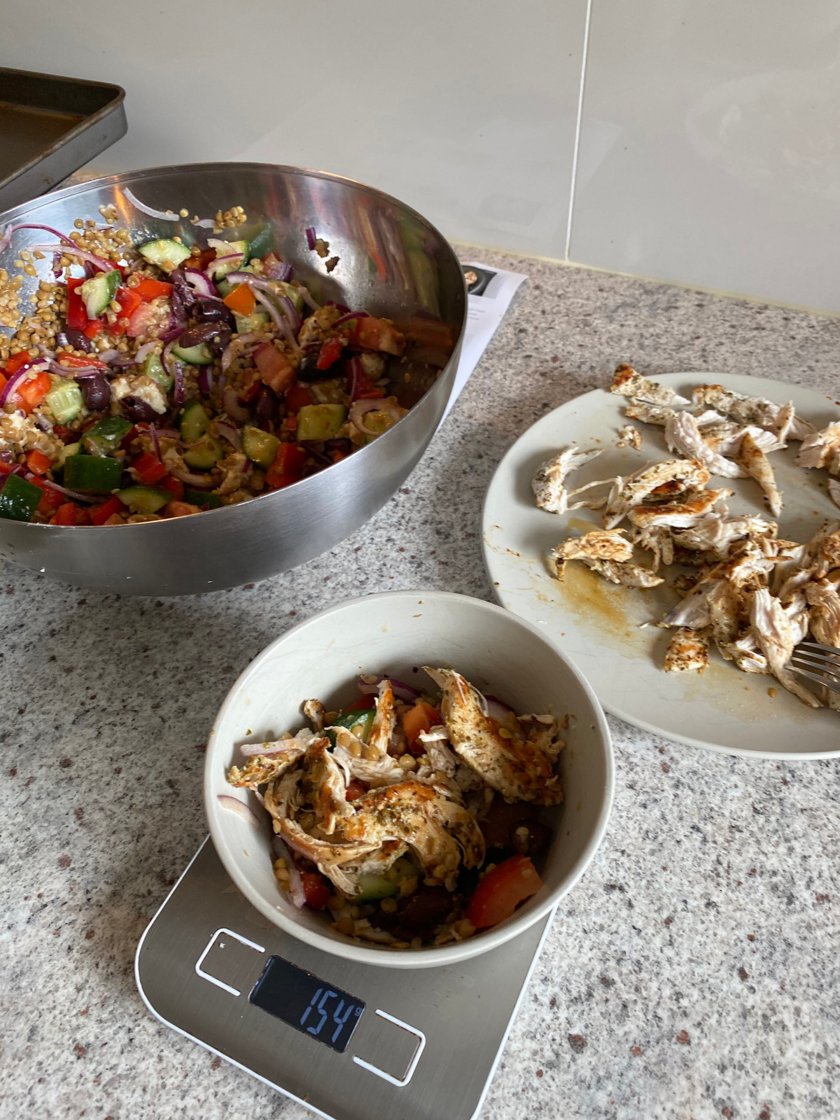 Portioning Marley Spoon's Chicken Lentil