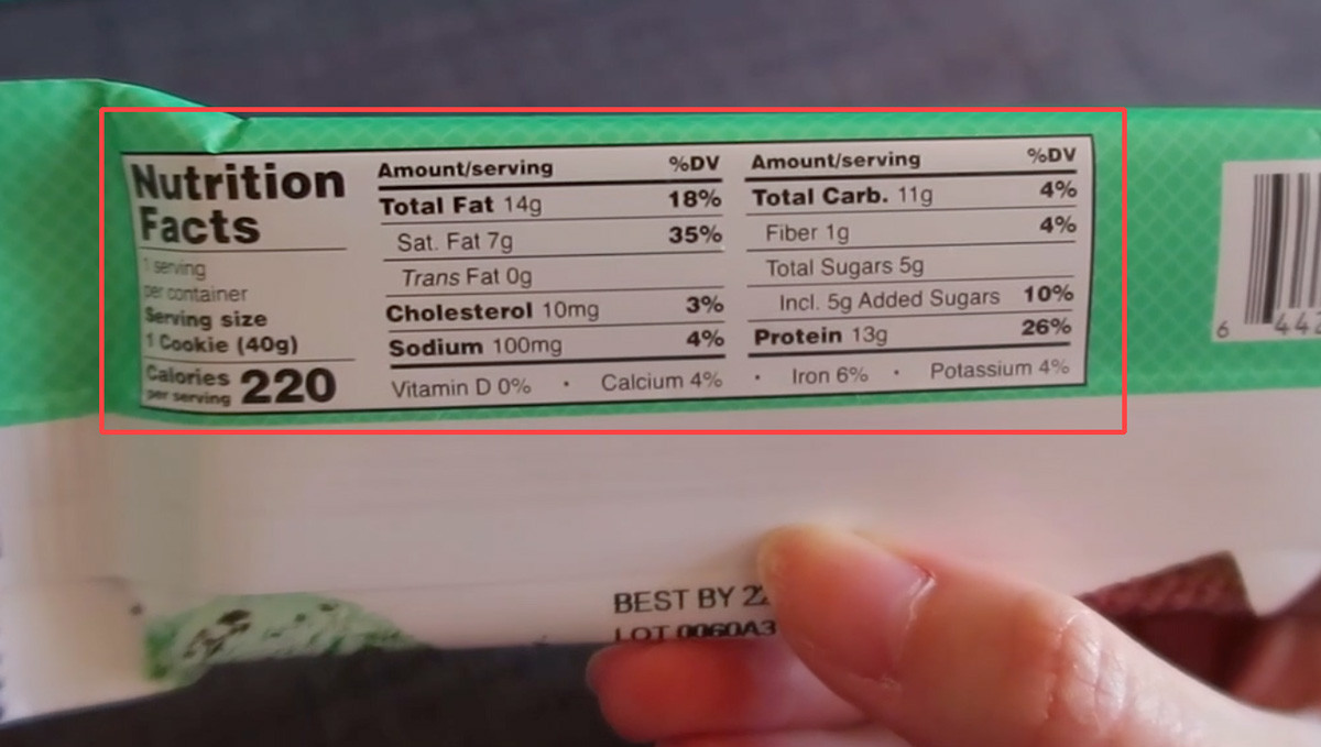 Nutrition Label: BNRG Power Crunch Protein Energy Bars