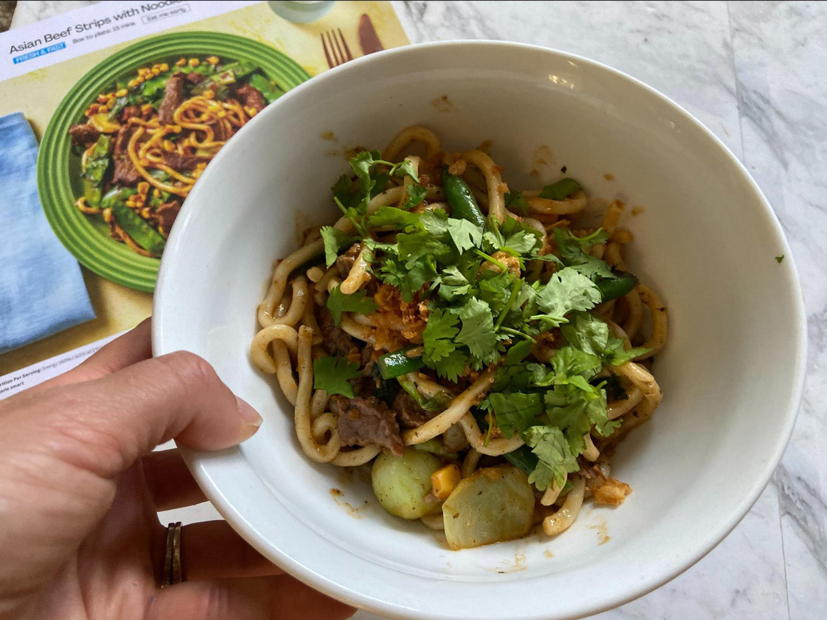 HelloFresh Asian Beef Strips with Noodles & Veggie Sirfry