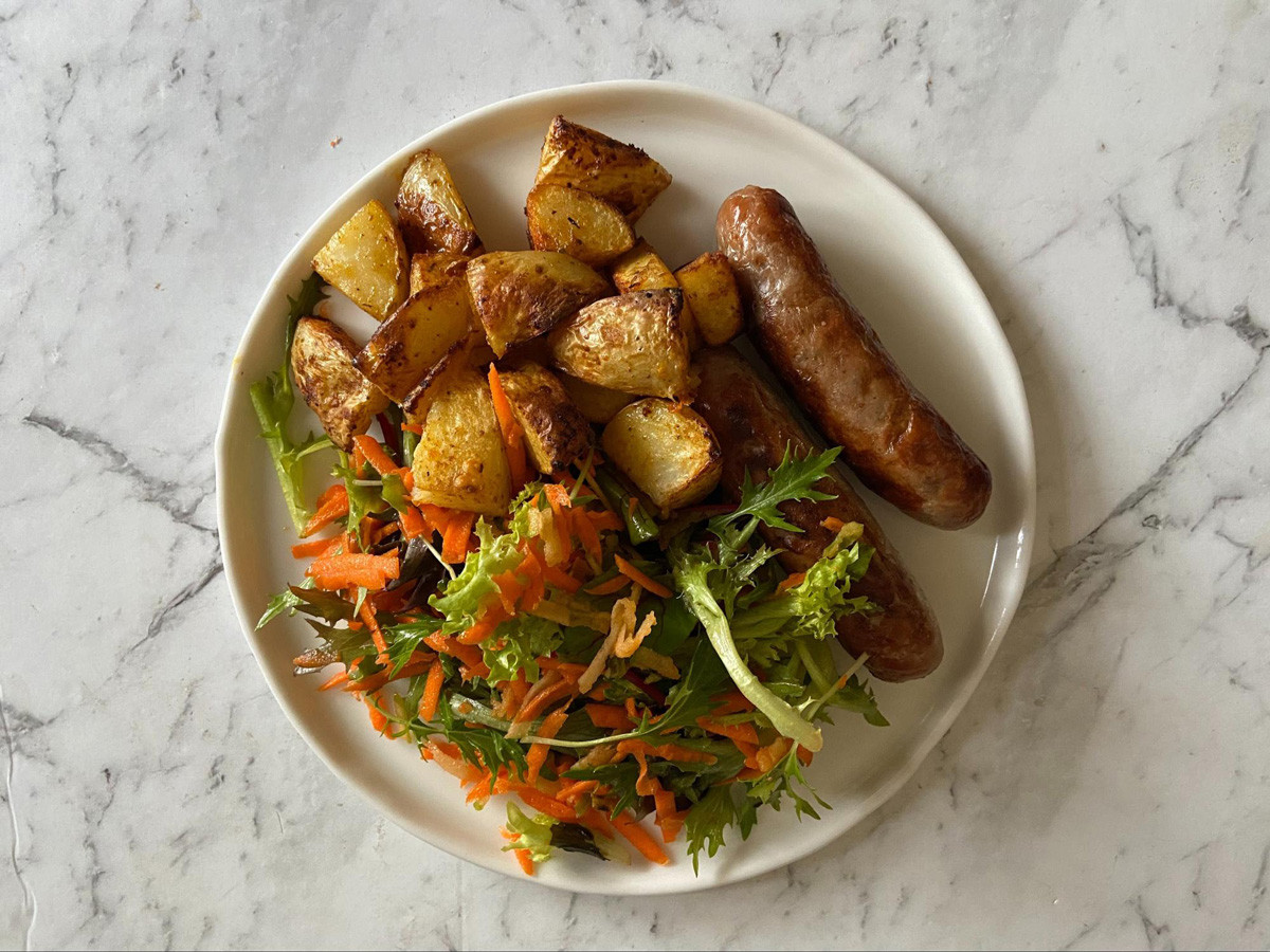 HelloFresh Pork Sausage & Cheesy Potatoes