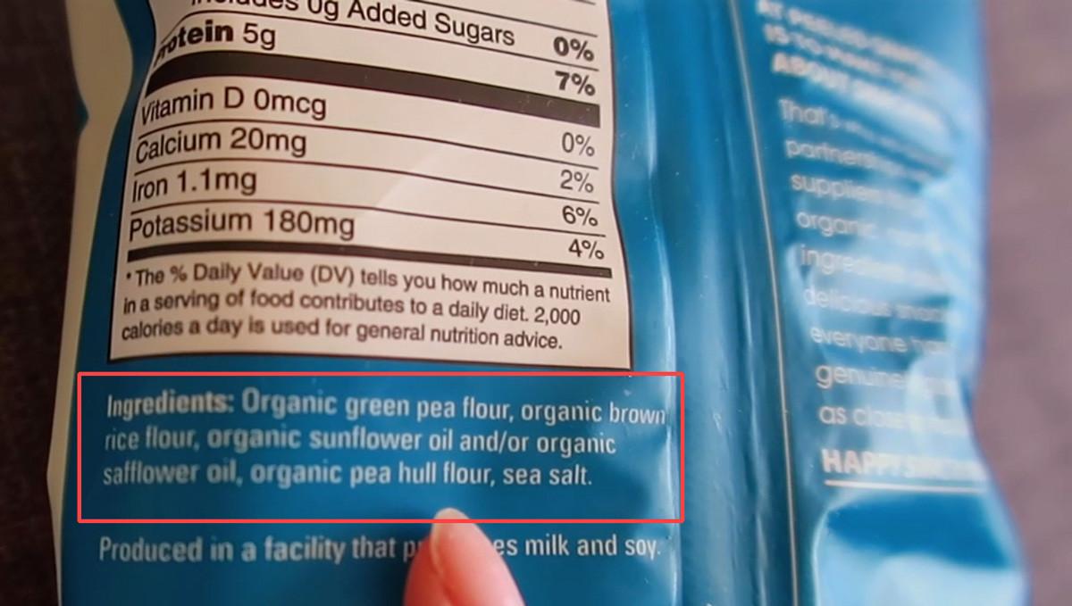 Peeled Snacks Peas Please Organic Sea Salt Snack