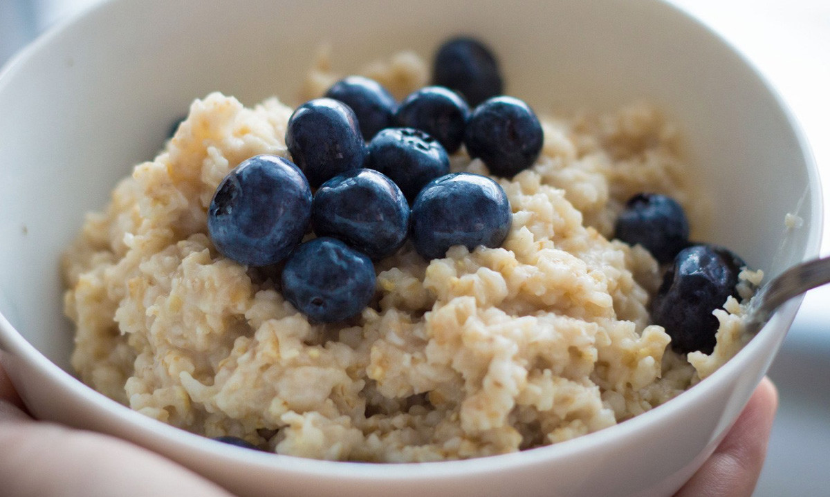 Protein Oats with Blueberry