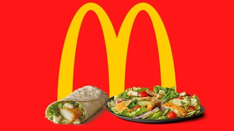 Maccas salad and wrap