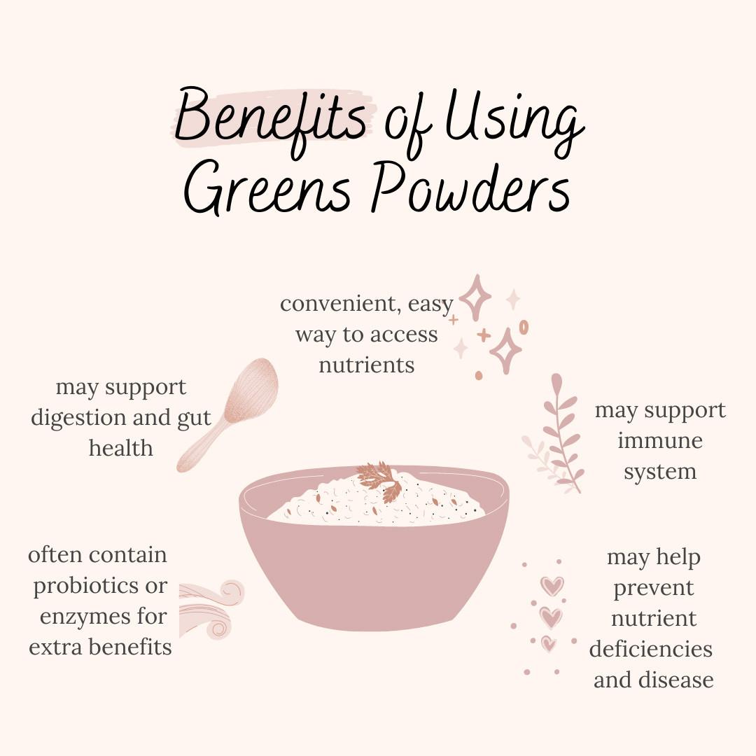 Advantages of greens powder supplements
