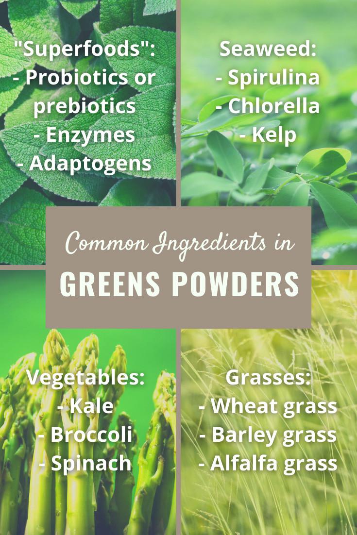 Common Greens Powder Ingredients