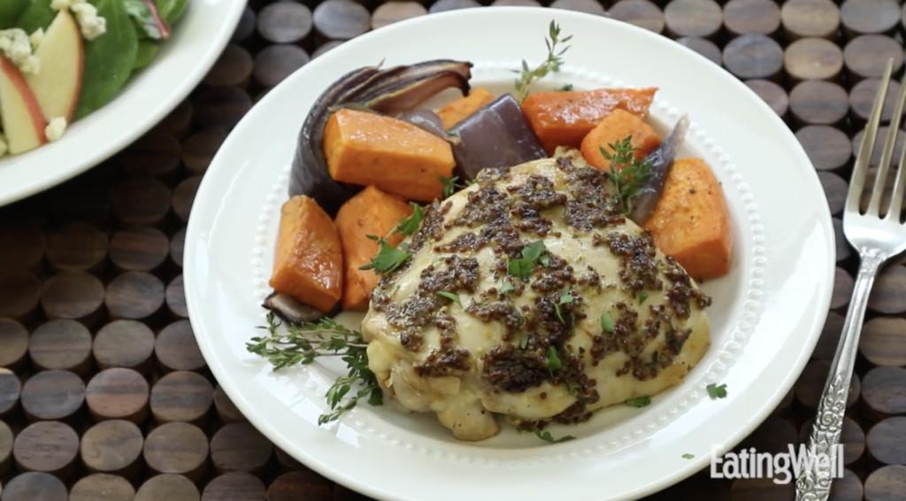 roast chicken and sweet potato