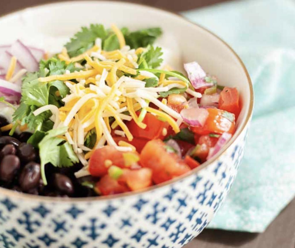veggie microwave rice bowl