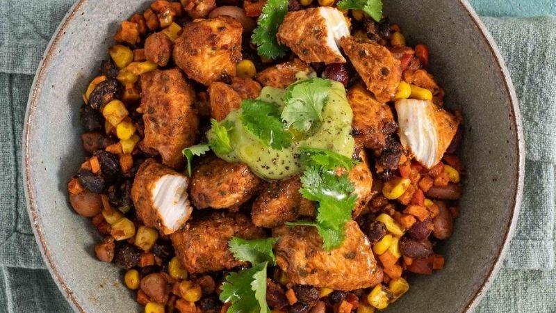 Chicken Burrito Power bowl