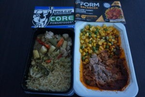 Core Powerfoods Green Curry vs Coles PerForm Yellow Curry