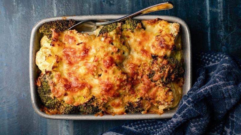 cauli and broccoli bake
