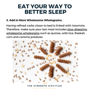 Wholesome wholegrains can help you sleep