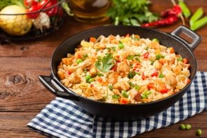 high protein edamame fried rice