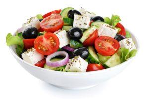 mediterranean, healthy greek salad