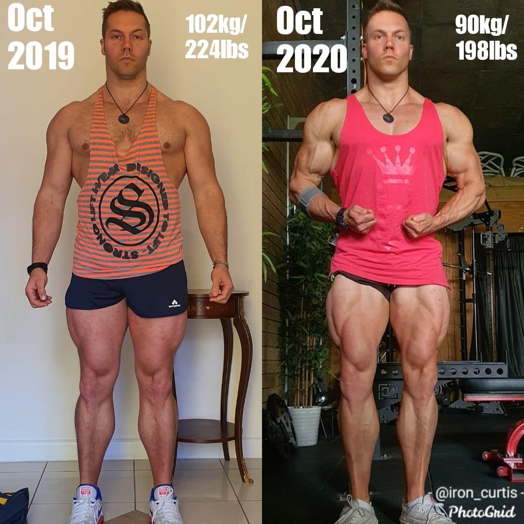 Aaron Curtis 2019 v 2020 Progress