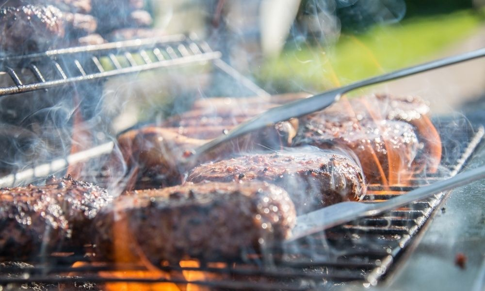 charcoal grills produce a lot of smoke