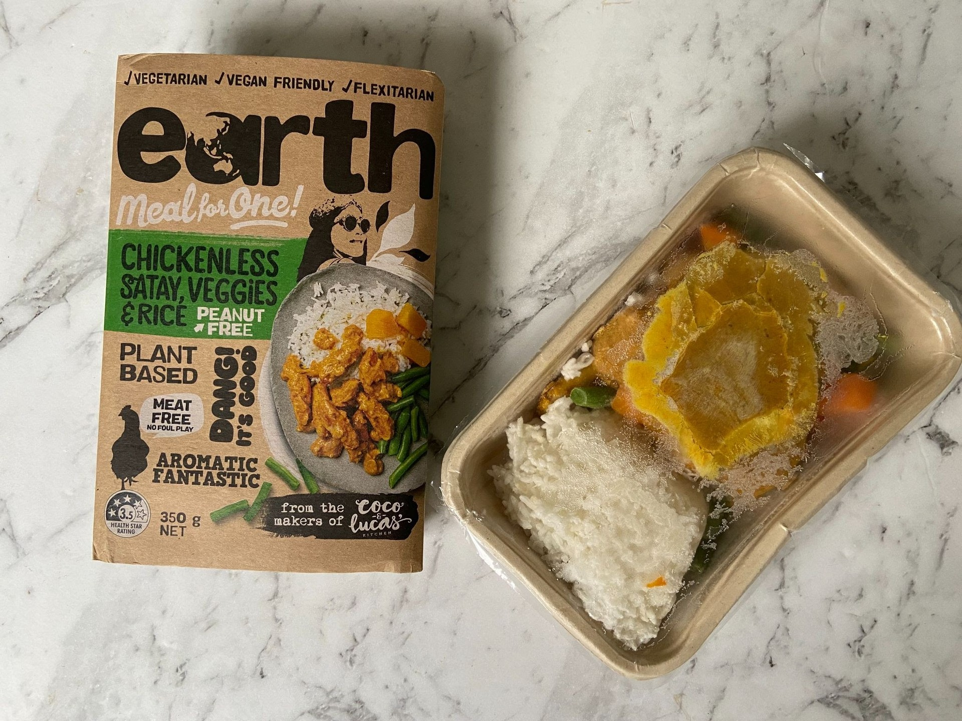 Earth Meals Chickenless Satay
