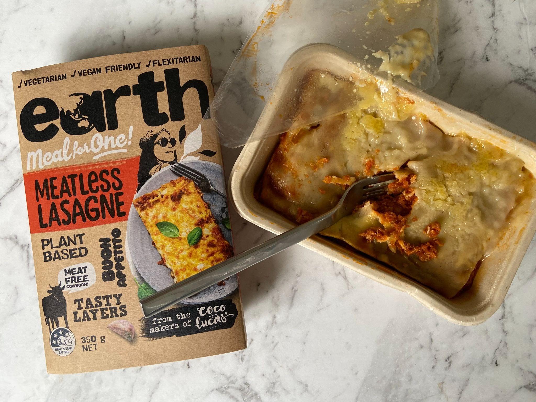 Earth Meals Meatless Lasagne
