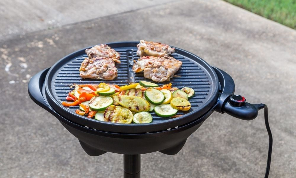 open electric grill