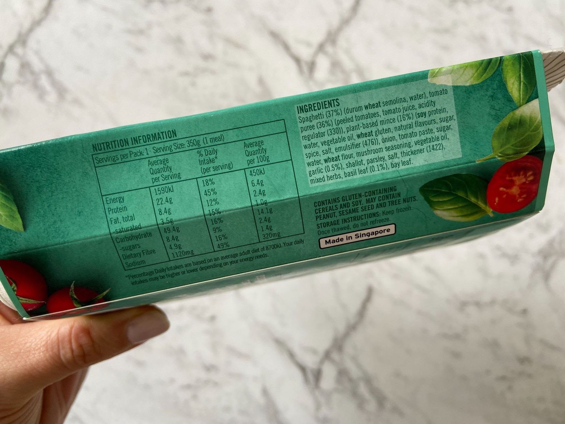 Plantry Nutritional Information